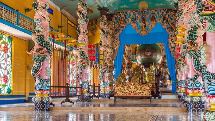 Templo coadaista en Saigon Ho Chi MInh Vietnam