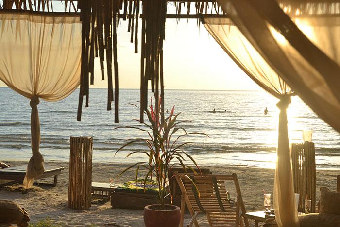 Balneario de Sihanoukville en Camboya