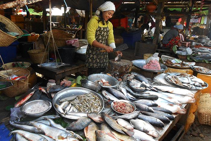 Mercado de la calle 36 en Yangon Myanmar