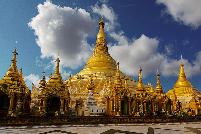 Pagoda Shwedagon en Yangon Myanmar