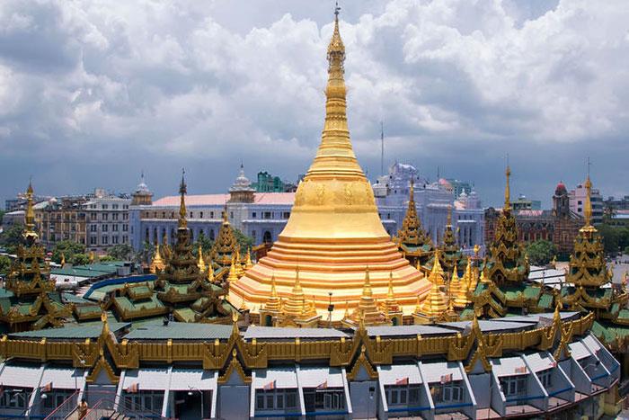 Pagoda Sule en Yangon Myanmar