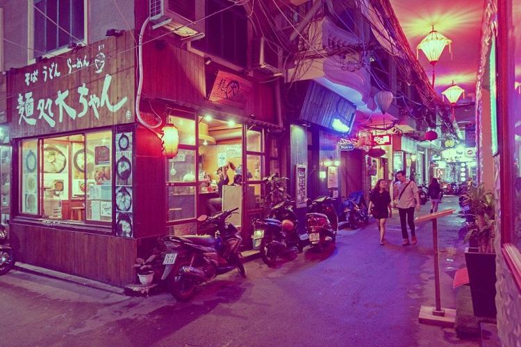 Barrio de expatriados Ho Chi Minh barrio japones en Saigon Vietnam