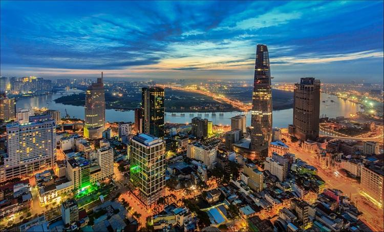 Distrito 1 en Ho Chi Min Saigon Vietnam