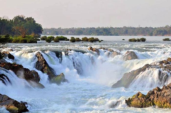 Las cataratas de Khong Phapheng en las 4000 islas Laos
