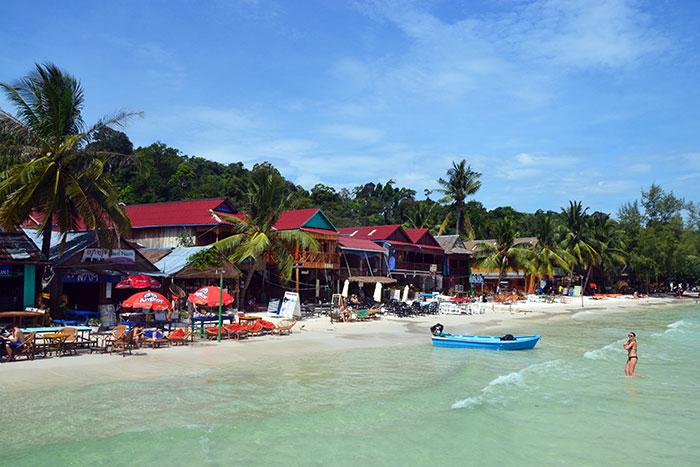 Playa de Sihanoukville en Camboya