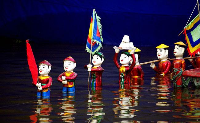 Teatro de marionetas Thang Long en Hanoi