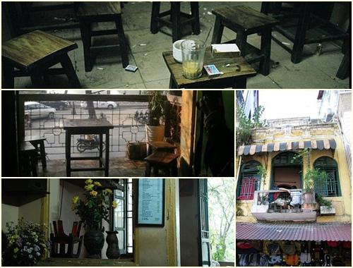 Cafe Dinh en le barrio antiguo de Hanoi