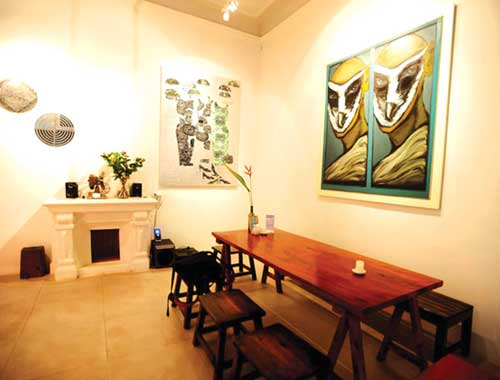 Cafe Mazi en el barrio antiguo de Hanoi