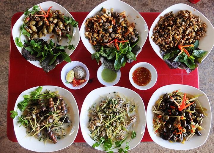 Caracoles plato popular de Saigon