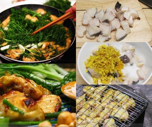 Ingredientes del cha ca o pescado frito de hanoi