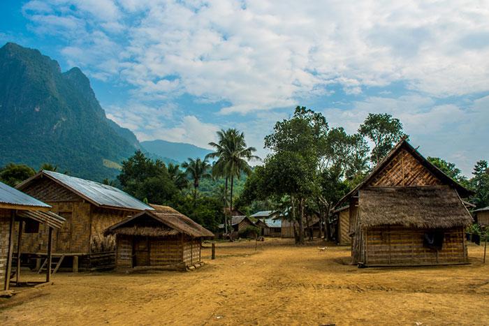 Alojamiento en casa de una familia laosiana