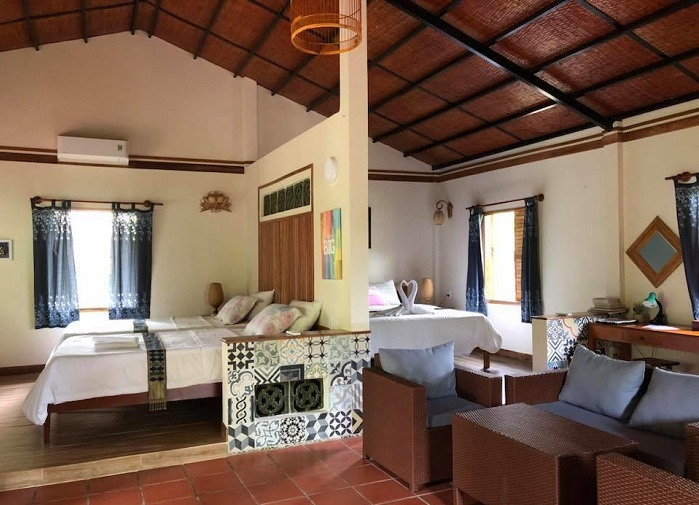Habitacion en el Coco Riverside Lodge delta del Mekong