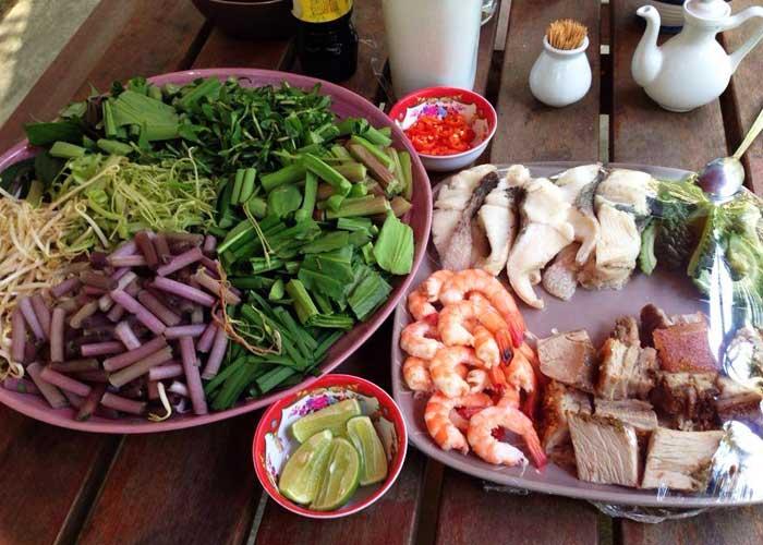 Culinaria en el Cocohut Homestay en el delta del Mekong