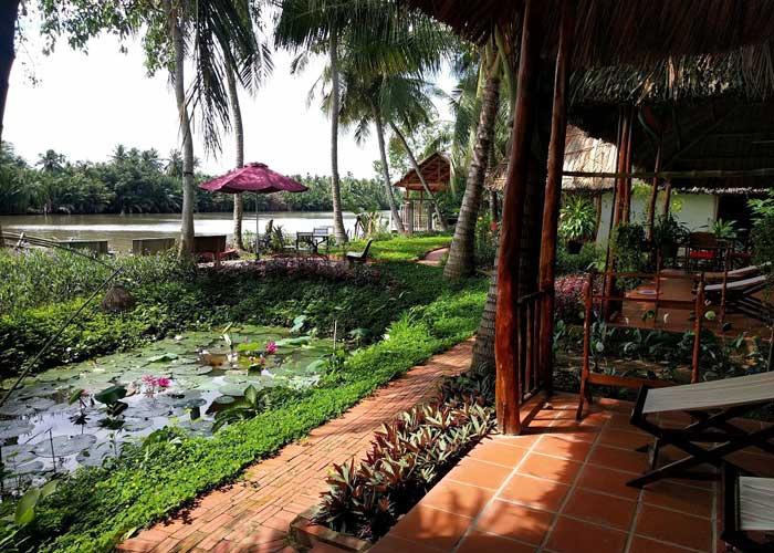 Coco Riverside Lodge en el delta del Mekong