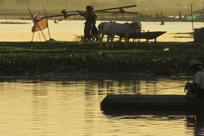 Amanecer en Mandalay Myanmar