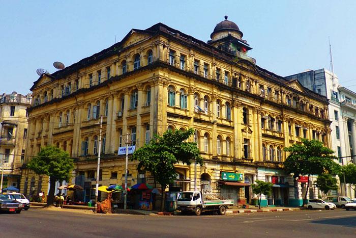 Arquitectura colonial de Yangon Myanmar