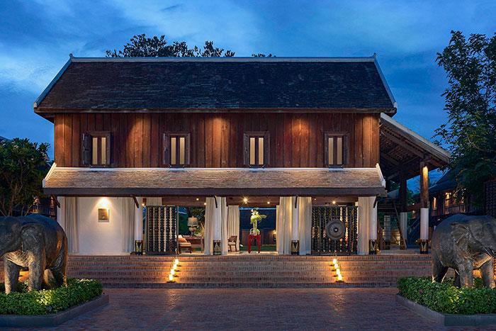 Arquitectura en Luang Prabang Laos