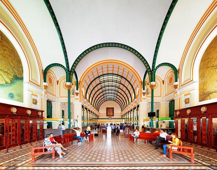 Arquitectura de la oficina central de correos de Saigon