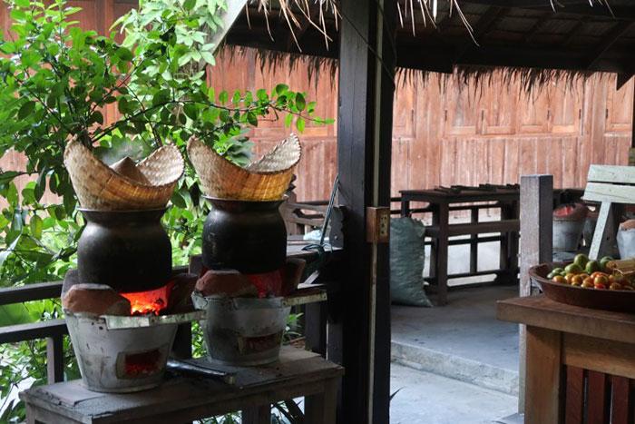 Arroz glutinoso en Laos
