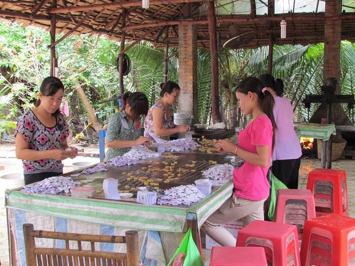 Artesania en en el delta del Mekong Vietnam