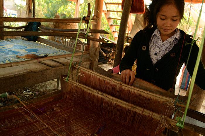 Artesania local en Muang Sing en Laos