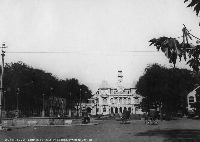 Ayuntamiento de Saigon Vietnam en el pasado