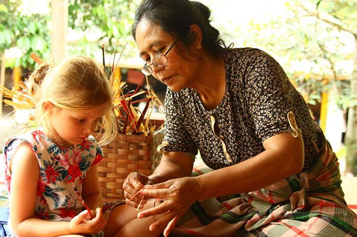 El bambu en la artesania de laos