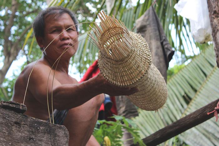 Utilizacion del bambu en Luang Prabang