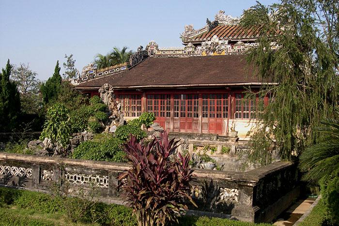 Biblioteca real en la ciudadela de Hue Vietnam