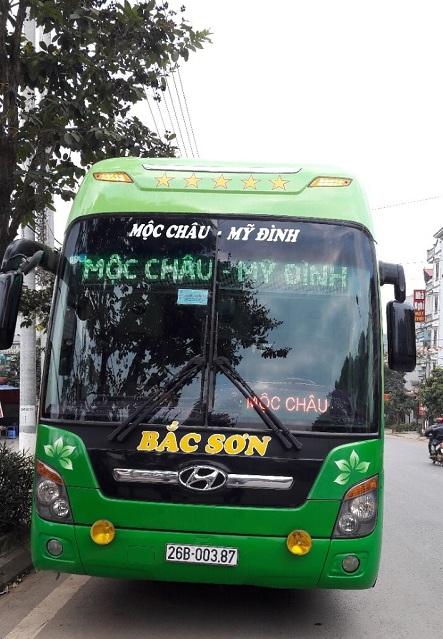 Autobus de Hanoi a  Moc chau