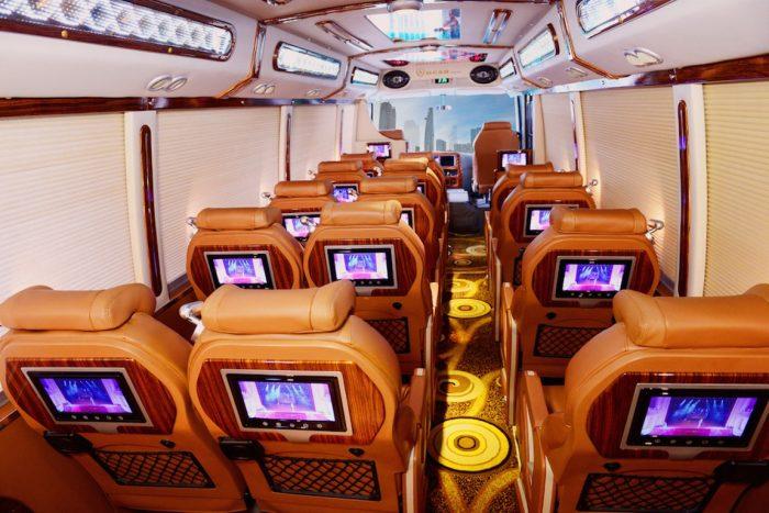 Bus limousine de Hanoi a Moc Chau Vietnam