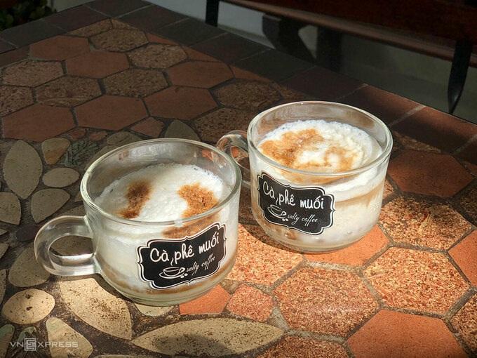 Famoso cafe con sal en el centro de Vietnam