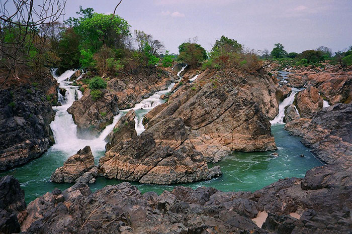 Caídas de agua de Li Phi en Don Det Laos