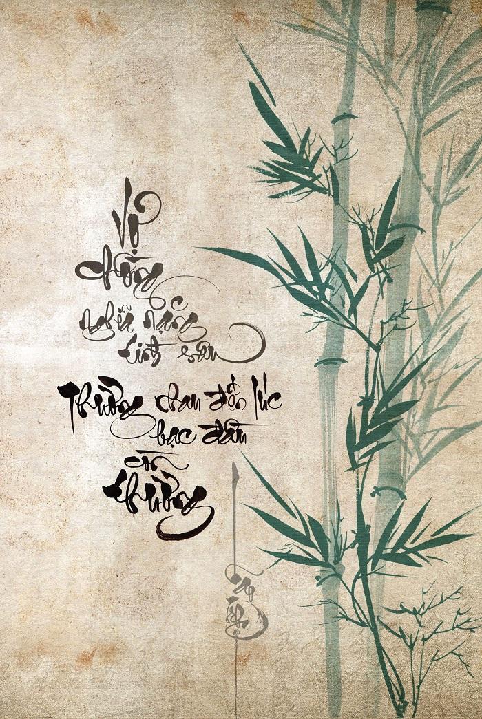 Caligrafía vietnamita diseno