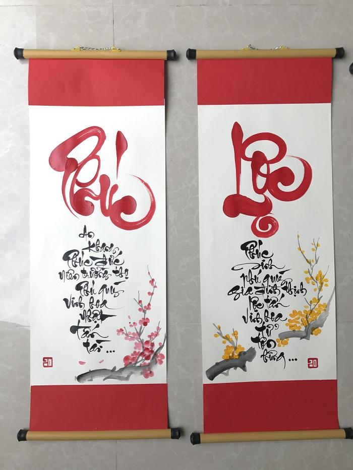 caligrafía vietnamita felicidad