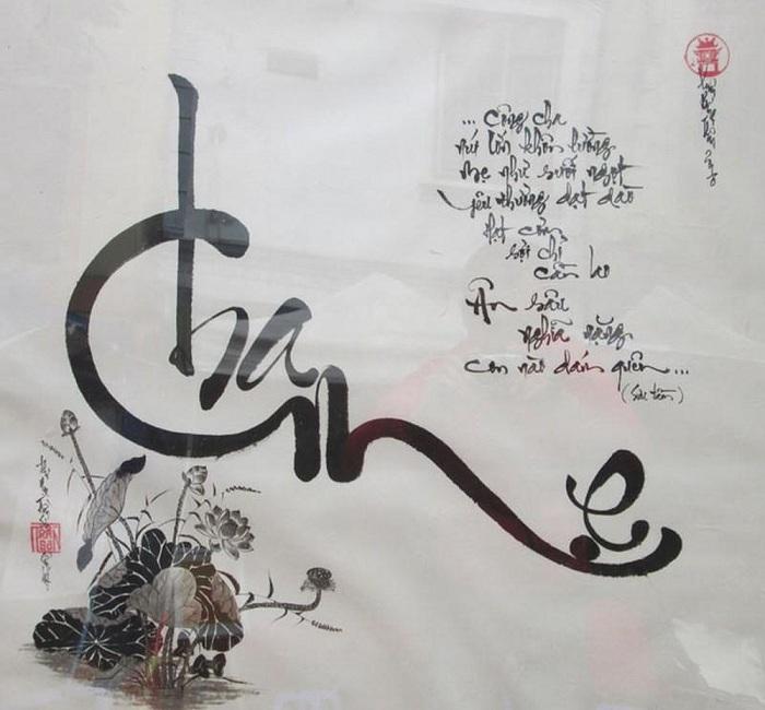Caligrafía vietnamita padres