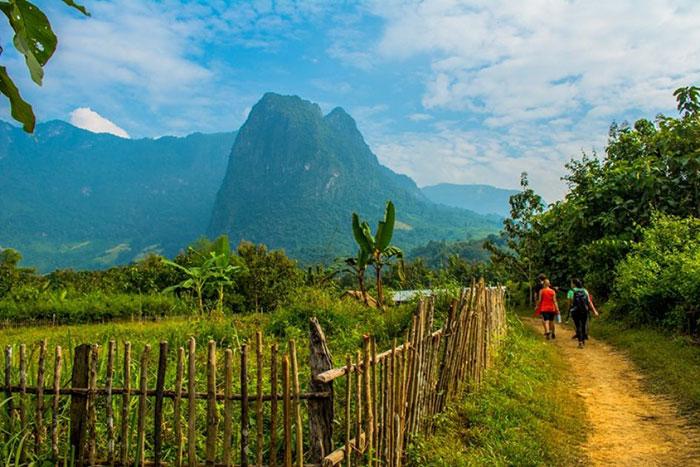 Caminata en Luang Prabang en Laos