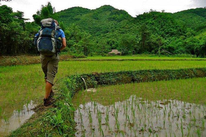 Caminata en Muang Ngoi en Laos