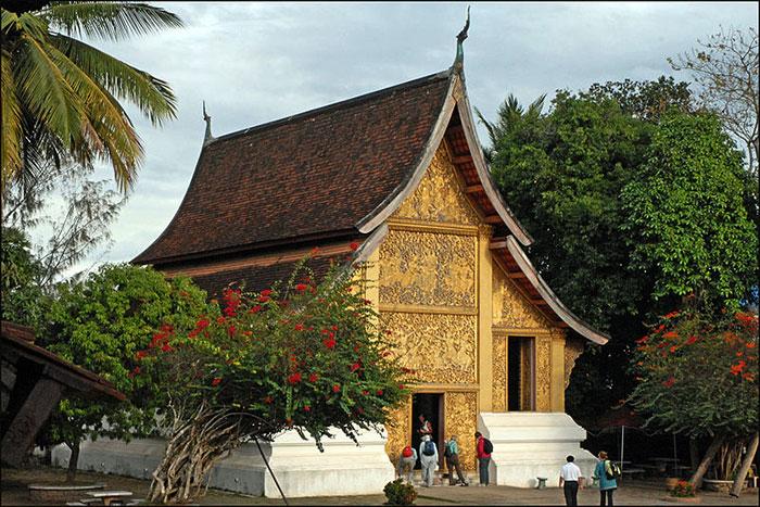 Capilla funeraria del templo Vat Xieng Thong