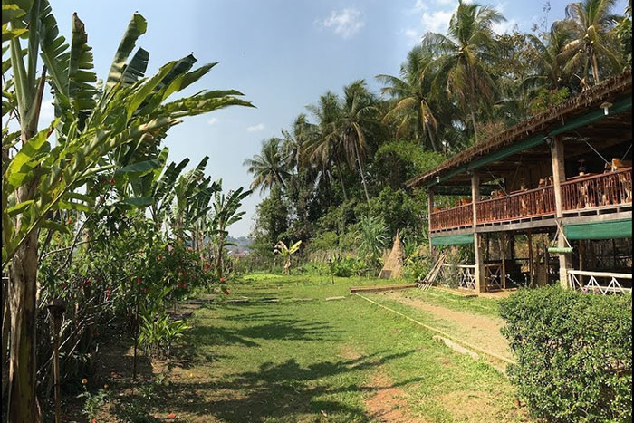 Casa de bambu en Laos