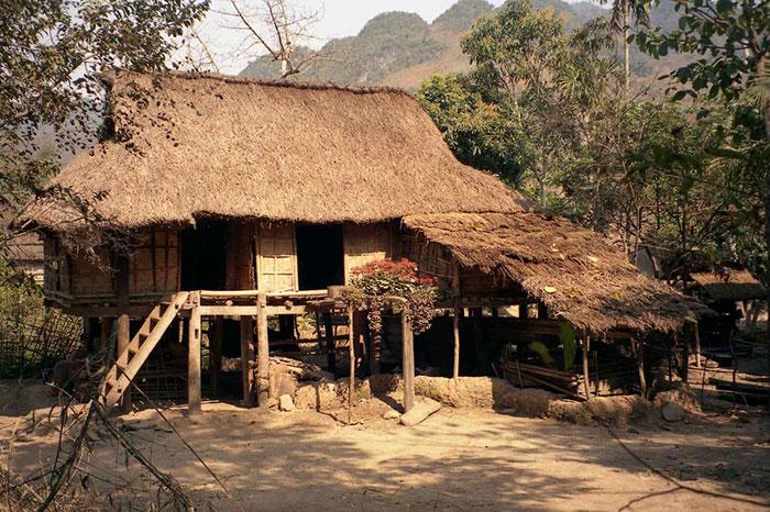 Casa tipica hmong en Laos