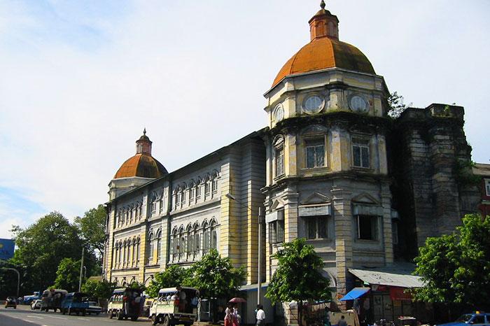El edificio del departamento de divisas en Yangon