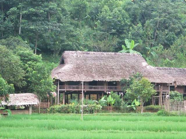 Casa sobre pilotes etnia Tay