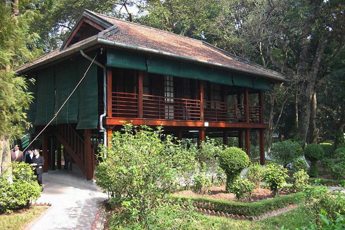 Casa sobre pilotes de Ho Chi Minh en Hanoi