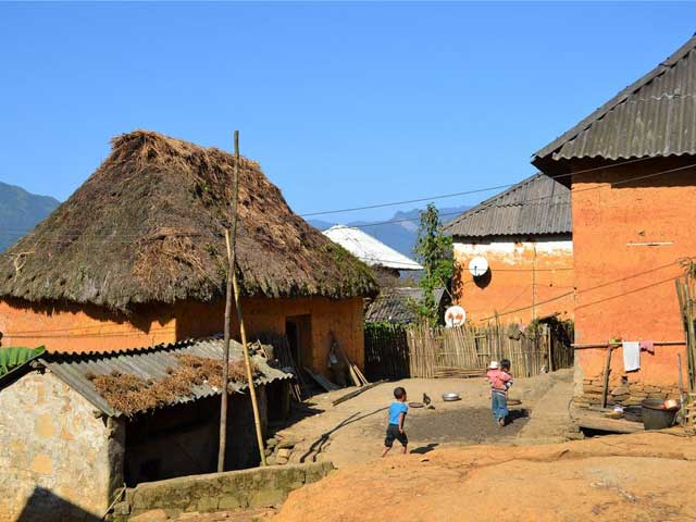 Casa tradicional de los Hmong