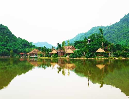 Casa sobre pilotes en Thung Nham Ninh Binh
