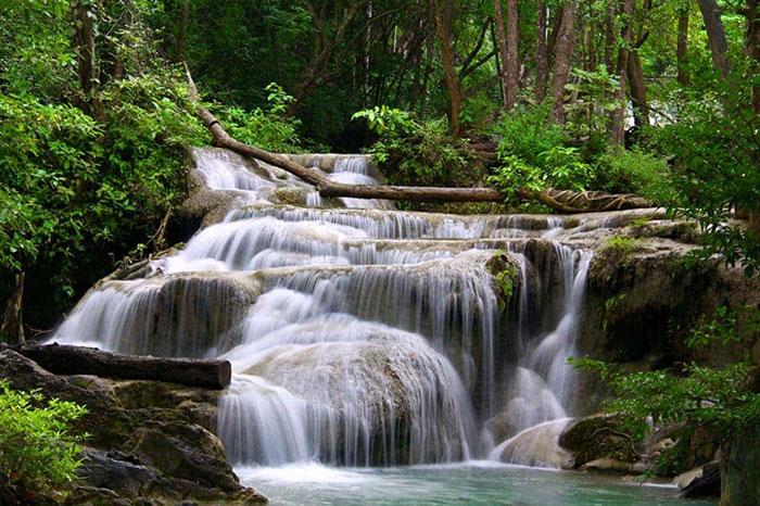 Cascada del Namkeo en Muang Sing en Laos