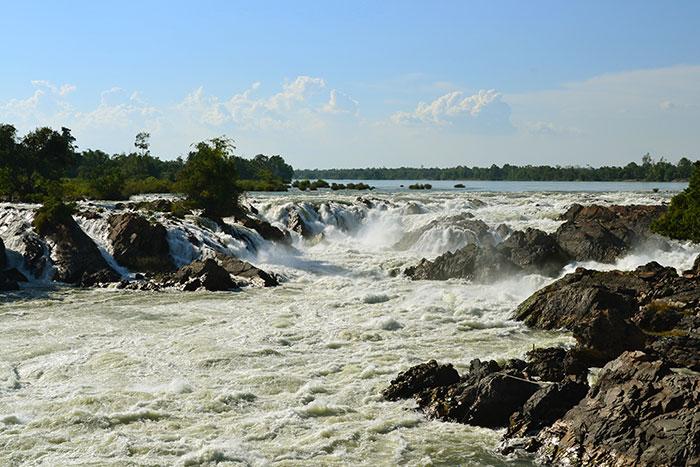 Cascadas de las 4000 islas en el sur de Laos
