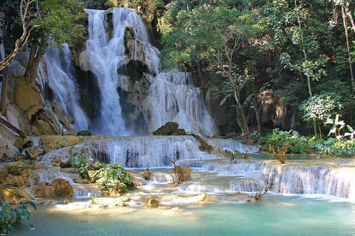 Cascada Kuang Si en Laos
