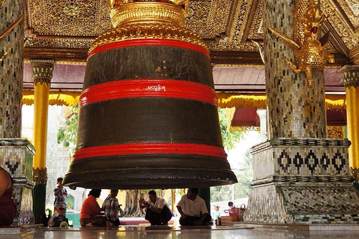 Chalet en la pagoga Shwedagon en Yangon Myanmar